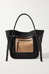 Proenza Schouler Inside Out Leather Trimmed Cotton Drill Tote Black