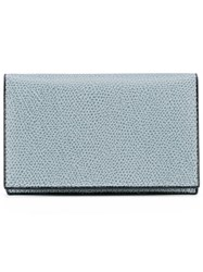 Valextra Flap Closure Wallet Men Calf Leather One Size Grey
