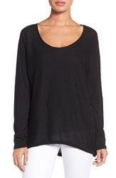 Press Women's Boatneck Cotton And Modal Sweater Black