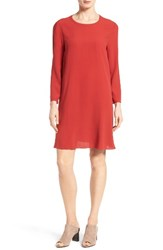 Eileen Fisher Women's Silk Georgette Crepe Shift Dress Serrano