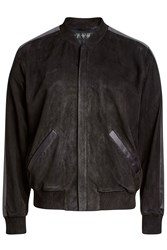 Calvin Klein Collection Suede Jacket Black