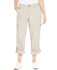 Style And Co. Plus Size Convertible Cargo Pants Summer Straw