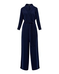Ted Baker Tierly Tailored Wrap Jumpsuit Navy