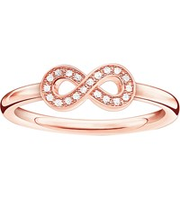 Thomas Sabo Infinity Sterling Silver And Diamond Ring