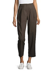 Lafayette 148 New York Pleat Front Cropped Pants Granite