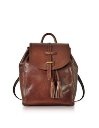 The Bridge Handbags Florentin Brown Medium Backpack W Tassels