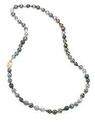 Jordan Alexander 10Mm Grey Tahitian Freshwater Pearl And 18K Yellow Gold Strand Necklace Grey Pearl