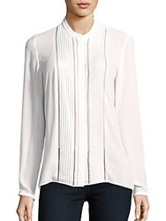 Elie Tahari Aviana Long Sleeve Blouse Antique