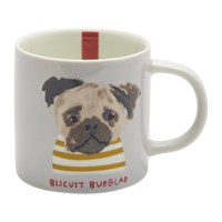 Joules Mischievous Mutts Cuppa Mug Grey Dog