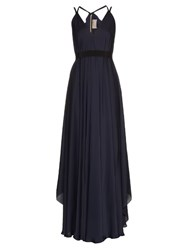 Maison Rabih Kayrouz Zip Through Charmeuse Dress Navy