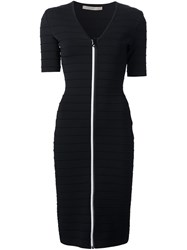 Christopher Kane Bodycon V Neck Dress Black