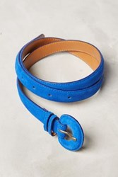Anthropologie Suede Skinny Belt Blue