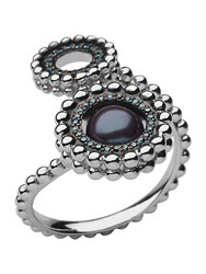 Links Of London Effervescence Pearl Double Ring Silver