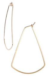 Women's Ija Triangle Hoop Earrings 14K Gold Fill