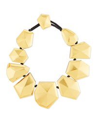 Viktoria Hayman Faceted Foil Stardust Necklace Gold