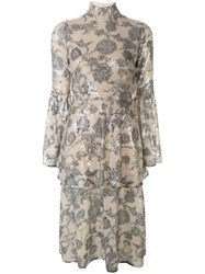 Cynthia Rowley Michelle Sequin Tiered Dress 60