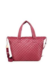 M Z Wallace Sutton Large Quilted Nylon Duffel Bag Red
