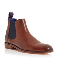 Ted Baker Camroon Paisley Panel Chelsea Boots Brown