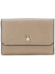 Valextra Small Grained Continental Wallet Women Calf Leather One Size Nude Neutrals
