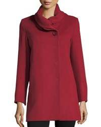 Cinzia Rocca Ruffled Collar Wool Jacket Red