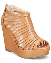 Thalia Sodi Millo Wide Width Wedge Sandals Only At Macy's Women's Shoes Tan