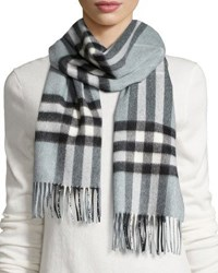 Burberry Giant Check Cashmere Scarf Mint