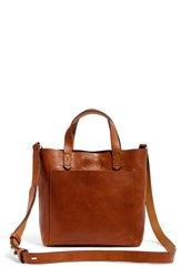 Madewell Small Transport Leather Crossbody Brown English Saddle