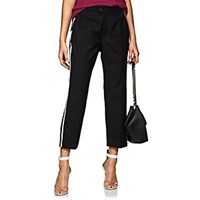 Adaptation Track Striped Wool Tailored Pants Black