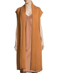 Dkny Long Cashmere Shawl Collar Vest Copper