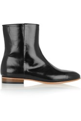 Dieppa Restrepo Rod Glossed Leather Boots Black