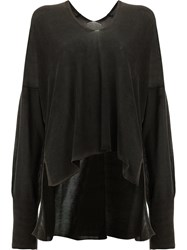 Ilaria Nistri High Low Hem Knitted Top Black