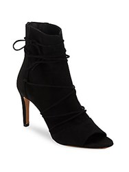 Vince Adisa Leather Lace Up Booties Black