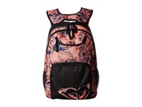 Roxy Shadow Swell Backpack Living Coral Kauai Floral Backpack Bags Pink