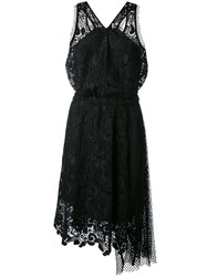 N 21 No21 Embroidered Lace Halter Neck Dress Women Silk Polyester Acetate 42 Black