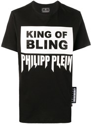 Philipp Plein Logo Slogan T Shirt Black