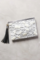 Rafe Celia Beaded Clutch White
