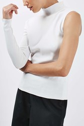 Boutique Asymmetric Funnel Jumper By Ivory