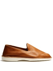 Maison Martin Margiela Babouche Leather Loafers Brown Multi