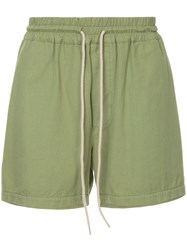 Bassike Tapered Shorts Green