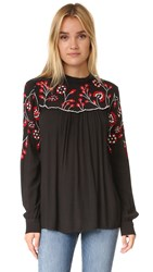 Parker Mila Blouse Black