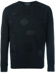 Alexander Mcqueen Badge Applique Sweatshirt Black