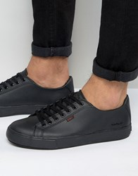 Kickers Tovni Lacer Leather Trainers Black