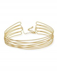 Kenneth Jay Lane Multi Row Twisted Choker Gold