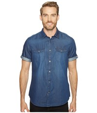 Calvin Klein Jeans Short Sleeve Denim Shirt Worn Indigo Men's Short Sleeve Button Up Blue