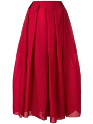 Sara Lanzi Culotte Trousers Red