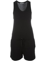 T By Alexander Wang Sleeveless Playsuit Black