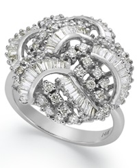 Effy Collection Classique By Effy Diamond Swirl Ring 1 1 2 Ct. T.W. In 14K White Gold