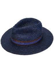 Paul Smith Woven Trilby Men Straw M Blue