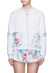 We Are Handsome 'The Botanica' Print Panelled Track Jacket White