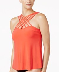 Magicsuit High Neck Strappy Tankini Top Women's Swimsuit Flamingo Orange